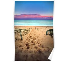 Beach Walk - Shelly Beach Poster
