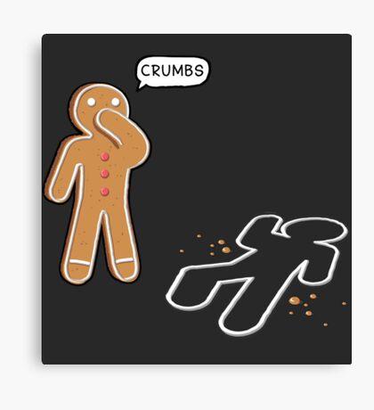 CRUMBS Ironic Gingerbeard Man Crime Scene  Canvas Print