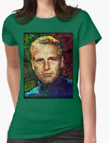 Paul Newman. Cool Cat On A Hot Tin Roof. Womens Fitted T-Shirt