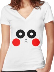 Pikachu Stare Women's Fitted V-Neck T-Shirt
