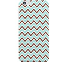 Pale teal aqua blue and brown chevron zigzag pattern chic girly iPhone case iPhone Case/Skin