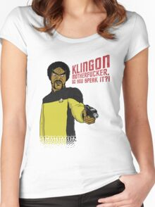 Klingon MotherF**ker Do You Speak It?! Women's Fitted Scoop T-Shirt