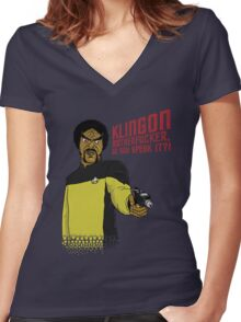 Klingon MotherF**ker Do You Speak It?! Women's Fitted V-Neck T-Shirt