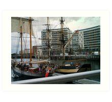 belfast ships Art Print