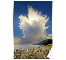 Cumulonimbus Incus Cloud Rising Poster