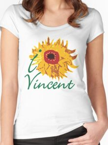 I LOVE VINCENT VAN GOGH T-shirt Women's Fitted Scoop T-Shirt