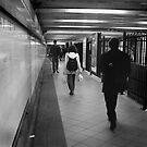 Tunnel Flinders Street Station  by Andrew  Makowiecki
