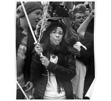 Demonstrator with whistle Poster