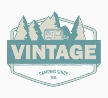 Vintage camping since 1965 - light blue Kids Tee