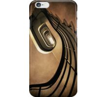 Spiral staircase in brown tones iPhone Case/Skin