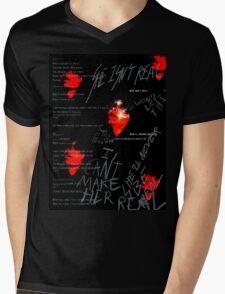 Red Vermillion  Mens V-Neck T-Shirt