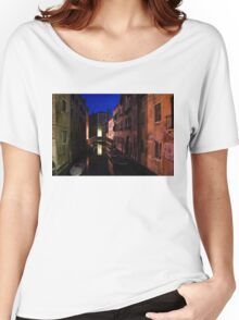 Venice, Italy - Nightscape on a Small Canal Women's Relaxed Fit T-Shirt