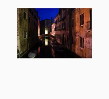 Venice, Italy - Nightscape on a Small Canal Unisex T-Shirt