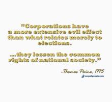 Thomas Paine on Corporations Baby Tee
