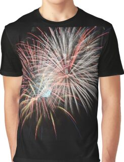 Fireworks display on a black sky Graphic T-Shirt