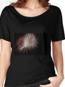 Fireworks display on a black sky Women's Relaxed Fit T-Shirt