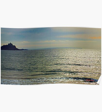 Dawn over St Michaels Mount. Poster
