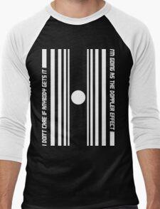 The Doppler effect - White on black Men's Baseball ¾ T-Shirt