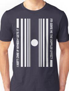 The Doppler effect - White on black T-Shirt