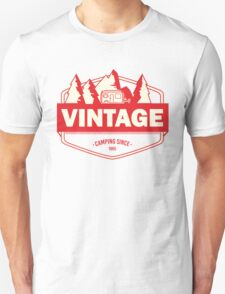 Vintage camping since 1965 - red T-Shirt