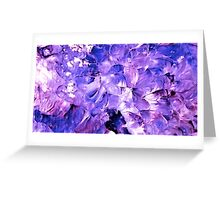 Violets in Fairyland Greeting Card
