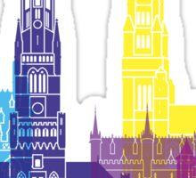 Bruges skyline pop Sticker