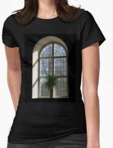 Church window Womens Fitted T-Shirt