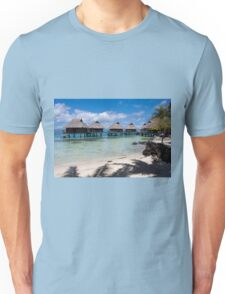 bungalows on stilts at a resort hotel Unisex T-Shirt