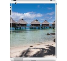 bungalows on stilts at a resort hotel iPad Case/Skin