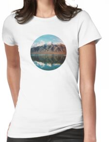New Zealand mountain landscape with authentic light leak Womens Fitted T-Shirt