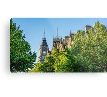 View to the Shamrock Hotel and the Old Town Hall - Bendigo, Victoria Metal Print