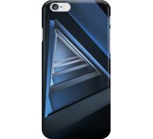 Triangle staircase in blue tones iPhone Case/Skin