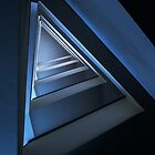 Triangle staircase in blue tones by JBlaminsky