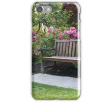 Shrubs and bushes in a garden iPhone Case/Skin
