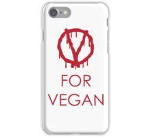 V for vegan iPhone Case/Skin