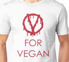 V for vegan Unisex T-Shirt