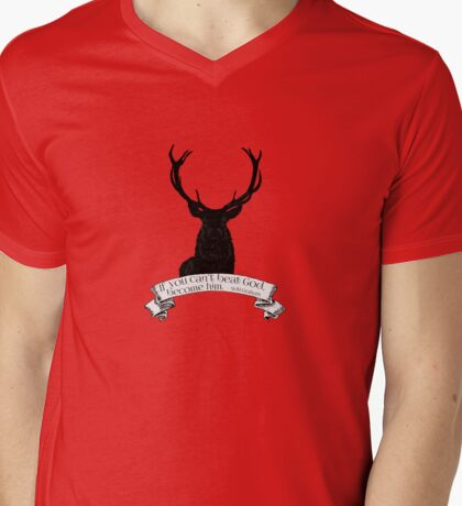 """""""If you can't beat God.."""" - Will Graham / Hannibal  Mens V-Neck T-Shirt"""