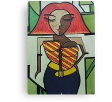 Robot lady Canvas Print