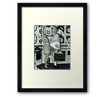 Off to Work. Framed Print
