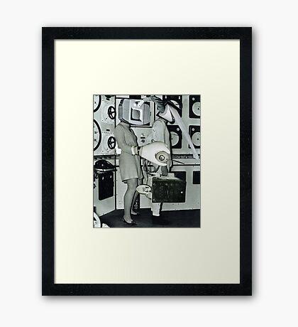 Off to Work. Framed Print