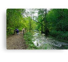 Gateway to Lover's Leap, Dovedale  Canvas Print