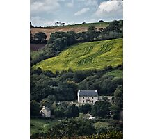The House On The Side Of The Hill Photographic Print