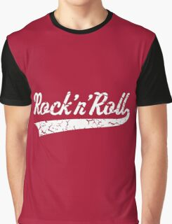 Rock 'n' Roll Vintage (White) Graphic T-Shirt