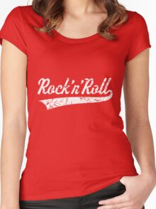 Rock 'n' Roll Vintage (White) Women's Fitted Scoop T-Shirt