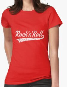 Rock 'n' Roll Vintage (White) Womens Fitted T-Shirt