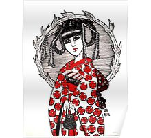 Geisha in Red Poster