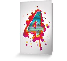 four  Greeting Card