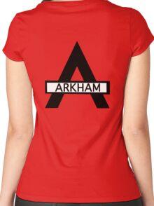 Batman : Arkham Asylum Women's Fitted Scoop T-Shirt