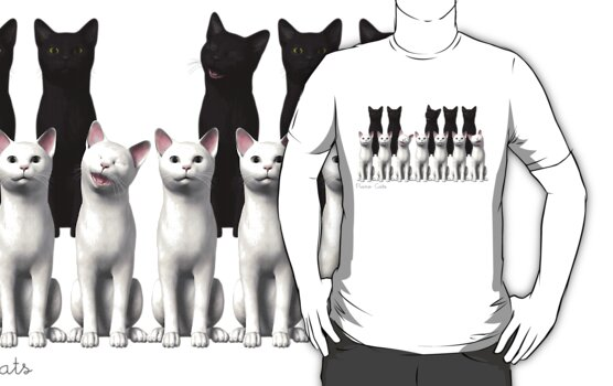 Piano Cats Tee by UptownArts