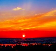 Lake Huron Sky at Sunset by Yukondick